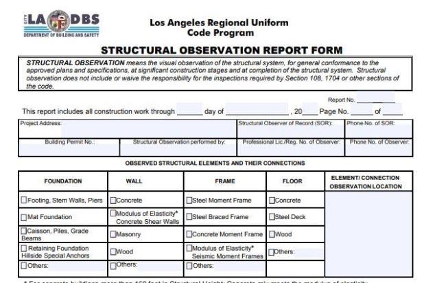 Structural-Observation-Form